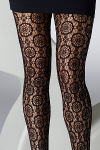 Gipsy Circle Floral Lace Tights