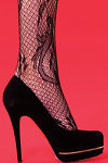 Silky Vine Fishnet Tights