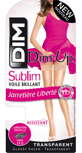 DIM Sublime Voile Brilliant Up Stay-ups Bridal / Strumpbyxor.com