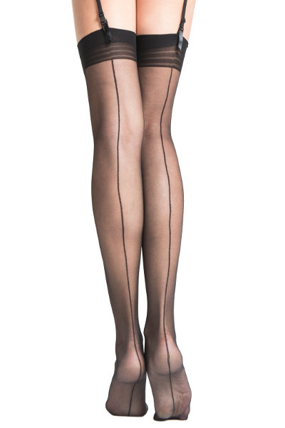 Fiore Marlena Seamed Stockings Seamed Bridal / Strumpbyxor.com