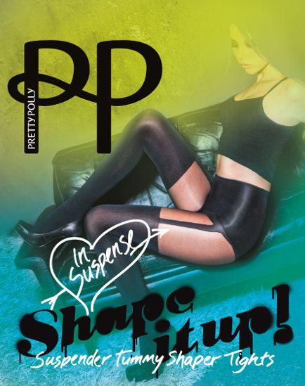 Pretty Polly Suspender shaper Tights Shapewear / Strumpbyxor.com