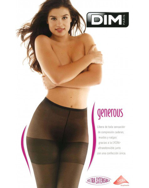 DIM Generous Transparent Tights Special Offer X-Large / Strumpbyxor.com