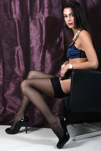 Silky Super Shine Stockings Stockings  / Strumpbyxor.com