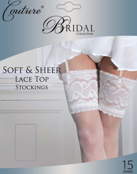 Couture Bridal Lace top Stockings Bridal / Strumpbyxor.com