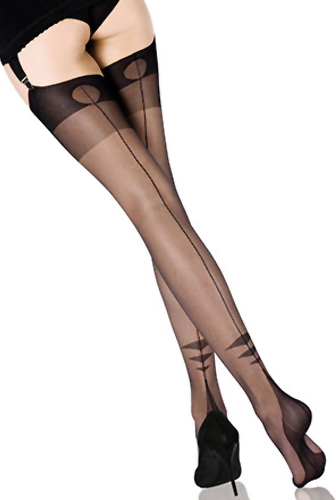 Cervin Swing Time (FF) Stockings Seamed Fully fashioned / Strumpbyxor.com