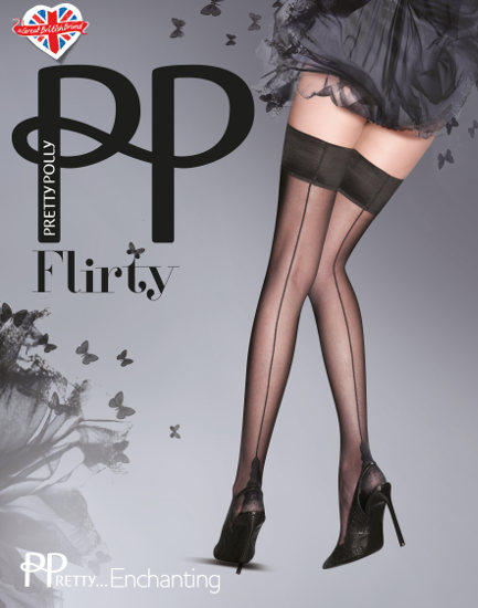 Pretty Polly Flirty Backseam Stay-ups Seamed / Strumpbyxor.com