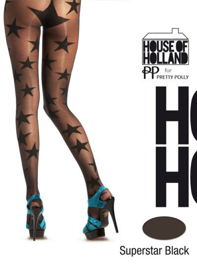 Pretty Polly House of Holland Superstar Tights Fashion ranges / Strumpbyxor.com