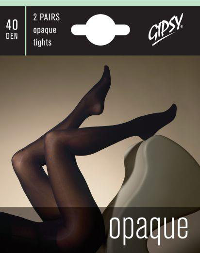 Gipsy 40 Den Opaque Tights - 2 pairs Tights Winter ranges / Strumpbyxor.com