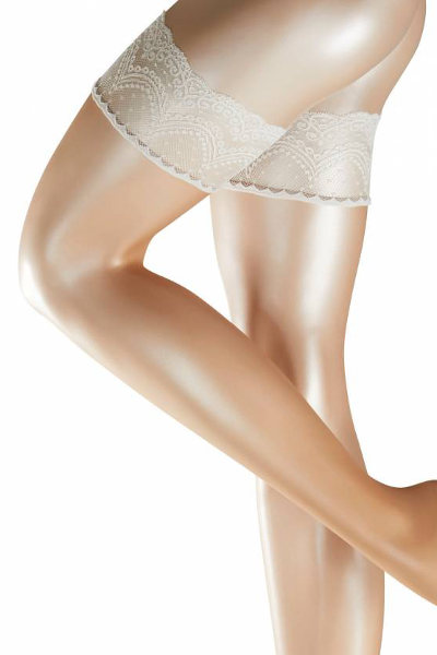 Falke Invisible Deluxe 8 Stay-ups Bridal Summer ranges / Strumpbyxor.com