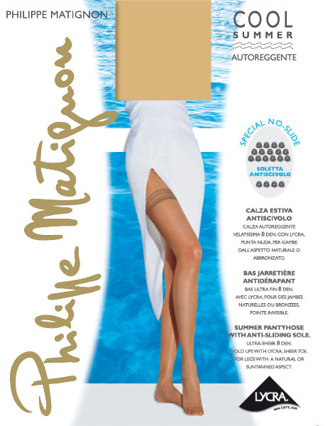 Philippe Matignon Cool Summer 8 Anti slip Stay-ups Summer ranges / Strumpbyxor.com