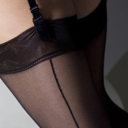 Gipsy Seamed Cuban-Heel Stockings Seamed / Strumpbyxor.com