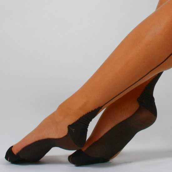 Calzessa Contessa - Contrast seam stocking Stockings Seamed / Strumpbyxor.com