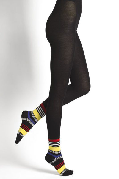 Bleuforet Effet Spocquette Rayures Tights Fashion ranges Winter ranges / Strumpbyxor.com