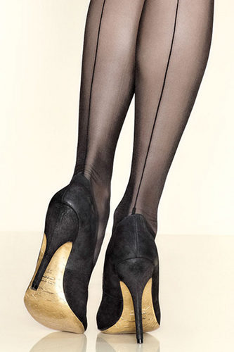 Gerbe Fatal Stockings Seamed / Strumpbyxor.com