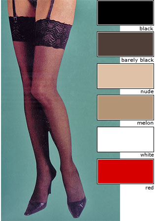 Silky Super Shine Lace top Stockings Stockings  / Strumpbyxor.com