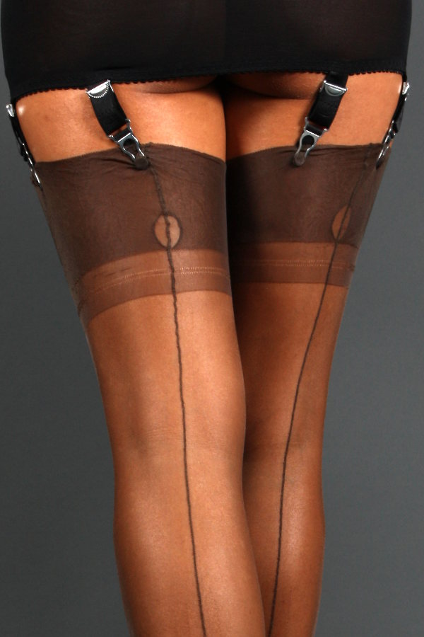 NylonDreams FF Point Heel, Stockings Fully fashioned